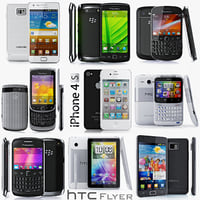 Collection of gadgets 2012 smartphone mobile phone cellular tablet BlackBerry iPhone Samsung galaxy HTC